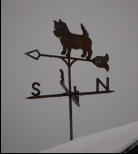 Cairn Terrier Weather Vane ~ essentialiron.com