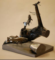 Trout Sculpture, Wildlife Art, NC Wildlife Art